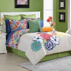 Shop for Lucia 4-piece Comforter Set with Bedskirt by Fiesta. Get free delivery at Overstock.com - Your Online Kids'