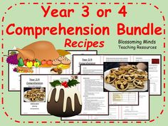 Year 3 and 4 Christmas comprehension bundle - Instructions