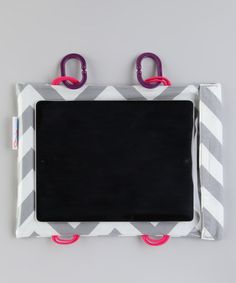 Take a look at this Silver Chevron Tablet Case by Car Seat Cinema on #zulily today!