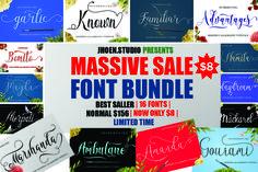 MASSIVE SALE FONT BUNDLE by jhoen.studio available for $4.00 at FontBundles.net