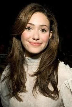 emmy rossum hair and make up !
