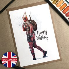 Deadpool, Geburtstagskarte, Deadpool Karte, Geburtstag, lustige Karte, Deadpool Geburtstag, Freund Geburtstag, Deadpool Party, Deadpool Geschenk, Todesspiel