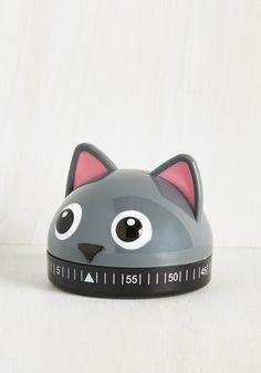 It's a Done Meal Kitchen Timer in Kitty. Stay sharp in the kitchen by using this cat timer from Kikkerland to keep your mixing, blending, and concocting on schedule! #grey #modcloth