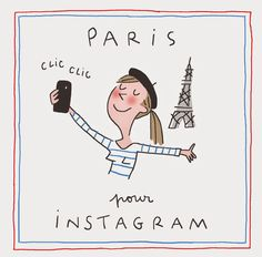 Paris illutstration by Soledad Bavi Illustration Parisienne, Paris Illustration, Illustrations, Graphic Design Illustration, My Little Paris, Pretty Drawings, I Love Paris, Girly, Tour Eiffel