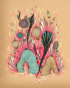 I've been totally obsessed with yellena's trippy flowers for a few years.