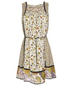 Like the black detail with the floral   Georgette smock dress by London's Browns