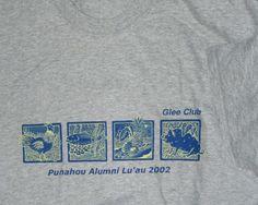 Punahou School Hawaii Glee Club Alumni Luau 2002 T-shirt XL New #HanesComfort #CrewneckTShirt