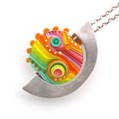 Michal S Lampwork Jewelry necklace pendant glass and by MichalS, $140.00