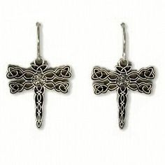 Celtic dragonfly earrings - from the Outlander series:O