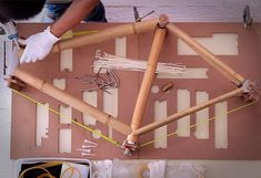 Bamboobee in News - Lumberjac -   DIY Bamboo Bike Frame project. This new kit by Bamboobee includes all the necessary parts to construct your very own bamboo bike frame.