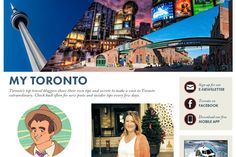 Introducing MY TORONTO: tips from Toronto's own travel bloggers! First up, @Mariellen Ward & @Andrew John Virtue Dobson, & stay tuned for more. Great stuff to keep track of before #TBEX! :)