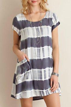Entro Charcoal Pocket Dress