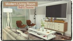 Modern Living Room at -- select a Sites -- via Sims 4 Updates