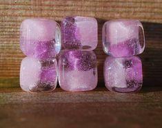 Lampwork BORO glass beads (6), borosilicate glass beads, handmade borosilicate lampwork glass beads, lavender, lilac, pink. borosilicate SRA by Juliyamrboro on Etsy