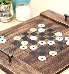 DIY Checkerboard Tray - Happy-Go-Lucky #BackToPlay AD #outdoorfun
