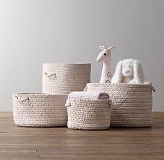 Braided Wool Baskets | Novelty Storage | Restoration Hardware Baby & Child