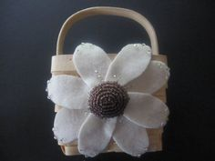 Flower Girl Basket Wedding  Ivory Purple 70 flower colors & 44 glass bead colors available by ArtisanFeltStudio, $26.00