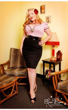 Troublemaker Dress in Red Gingham and Black - Deadly Dames  - Plus Size - Clothing | Pinup Girl Clothing