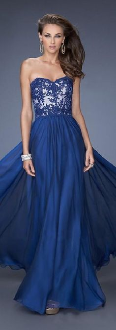 Cute Sweetheart Chiffon Long Sleeveless Dark Navy Prom Dress Sale lkxdresses03212lkj #longdress #promdress