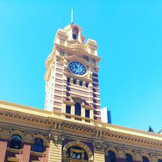 Melbourne's main train station (at Flinders Street Station)