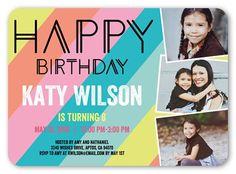 Modern Happiness 5x7 Invitation Card | Birthday Invitations | Shutterfly
