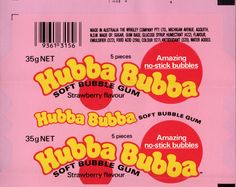 Wrigley Australia - Hubba Bubba - Strawberry flavour bubble gum wrapper proof - It's great to get these wrappers in proof condition. I've never come across a vintage soft-chunk gum wrapper quite in this good of condition. Aesthetic Collage, Aesthetic Vintage, Aesthetic Photo, Aesthetic Pictures, Bedroom Wall Collage, Photo Wall Collage, Picture Collages, Collage Pictures, Collage Art