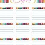 Free Organizing Printables | Tidy Lady Printables