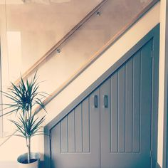Ella Russell (@therussellshome) • Under stairs storage cupboard glass banister