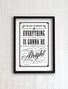 Everything is gonna be alright 13x19 - vintage collection. $35.00, via Etsy.