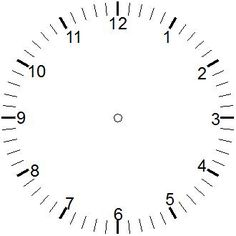 Blank Printable Clock Faces