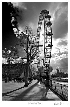 Image detail for -... london trip in 2008 this is the london eye again only in b w this time