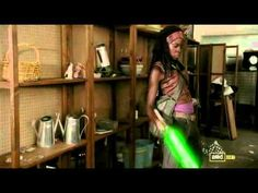 Michonne, zombies and light sabers ... part of a complete breakfast!