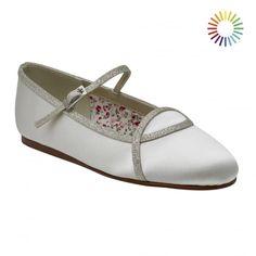 e9c121325757 Orlana Ivory Silver Shimmer Ballet Shoe