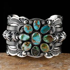 Delbert Gordon Navajo Royston Turquoise Bracelet Sterling Silver | eBay