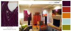 Using a creative color palette and Ignacio Muñoz Vicuña piece, Sin Tutulo, this living room is transformed into a dynamic space.   #interiordesign #design #interior #home #decor #furniture