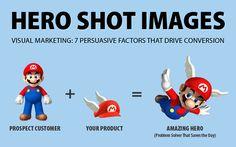 Hero Shot Images: Visual Marketing - 7 Persuasive Factors That Drive Conversion by @aschottmuller http://j.mp/1GwLVhm