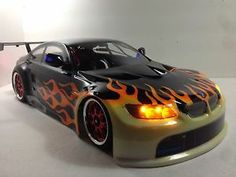 images of cars painted with flames | ... about Bmw Flame Painted 1/10 RC Touring Car Body / RC Drift Car Body