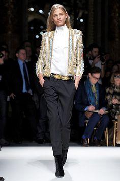 These jackets at #Balmain had a bit of a matador vibe.  #Paris #FashionWeek