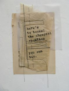 mixed media collage on canvas board with Charlaine Harris quote by Anca Gray. 2012.