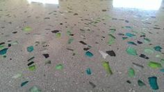 blue aggregate concrete floor | Outwest Concrete is proud to offer the full colour range of genuine ...