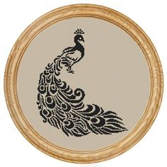 Cross Stitch Pattern PDF peacock silhouette di HappyStitches4You