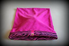 Hot Pink Zebra Print Snuggle Pocket Dog Bed www.spoileddogz.co.uk @spoileddoggz #dogbed #dogs #puppies