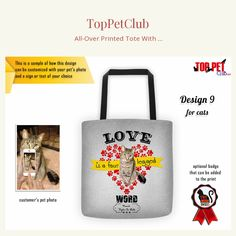 Cat Love, Your Pet, Dog Lovers, Reusable Tote Bags, Check, Shopping, Products, Gadget