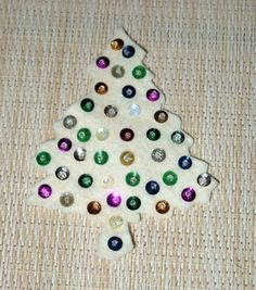 12 Vintage 50s Christmas tree appliques / felt sequin beaded applique / craft decor / assemblage art / mid century crafting kitsch  Last set of