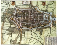 ALKMAAR - Beatifull old city in the north / western part of the Netherlands. Visit Alkmaar once and you will not regret it. Map Sketch, Merian, Fantasy Map, Walled City, Old Maps, City Maps, Vintage Maps, View Map, Historical Maps