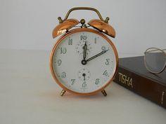 Vintage copper German alarm clock