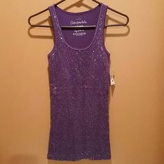 NWT Aeropostale tank top If you love purple and sequins this is for you!! So cute and sparkly!  Ready to have fun? aeropostale  Tops Tank Tops