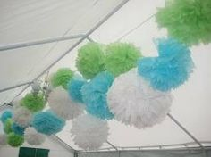 20 Tissue-Papier Pom Poms LARGE-Party, Wedings, Geburtstag Dekoration