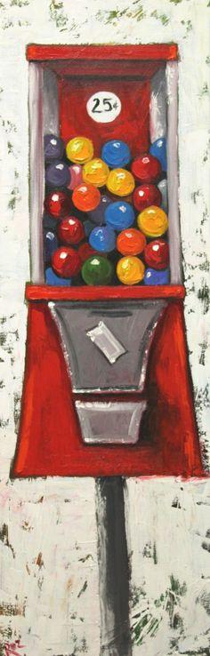 Gumballs painting