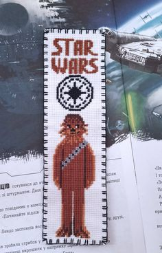 "Chewbacca Cross stitch bookmark pattern ""Star Wars: Chewbacca"" Star Wars pattern Chewbacca digital p Hand Embroidery Stitches, Hand Embroidery Designs, Embroidery Techniques, Cross Stitch Embroidery, Embroidery Ideas, Cross Stitch Bookmarks, Cross Stitch Fabric, Cross Stitching, Chewbacca"